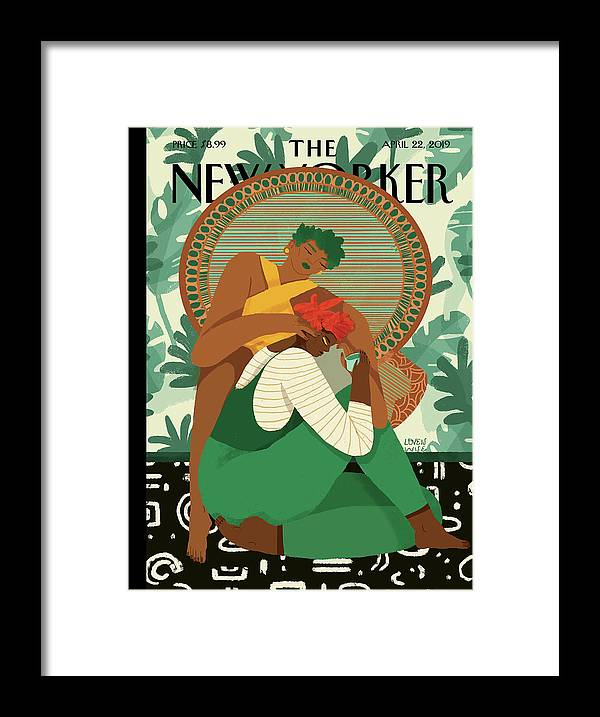 Wise Woman Framed Print featuring the painting Taking Care by Loveis Wise