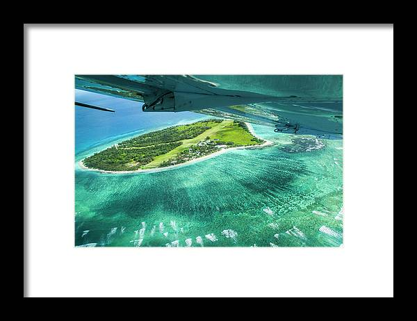 Grass Framed Print featuring the photograph Taking Off From Great Barrier Reef by Nick