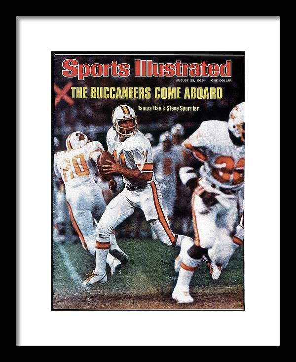 Magazine Cover Framed Print featuring the photograph Tampa Bay Buccaneers Qb Steve Spurrier... Sports Illustrated Cover by Sports Illustrated