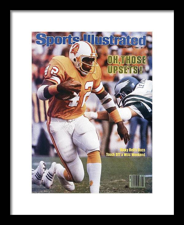 Playoffs Framed Print featuring the photograph Tampa Bay Buccaneers Ricky Bell, 1979 Nfc Divisional Sports Illustrated Cover by Sports Illustrated