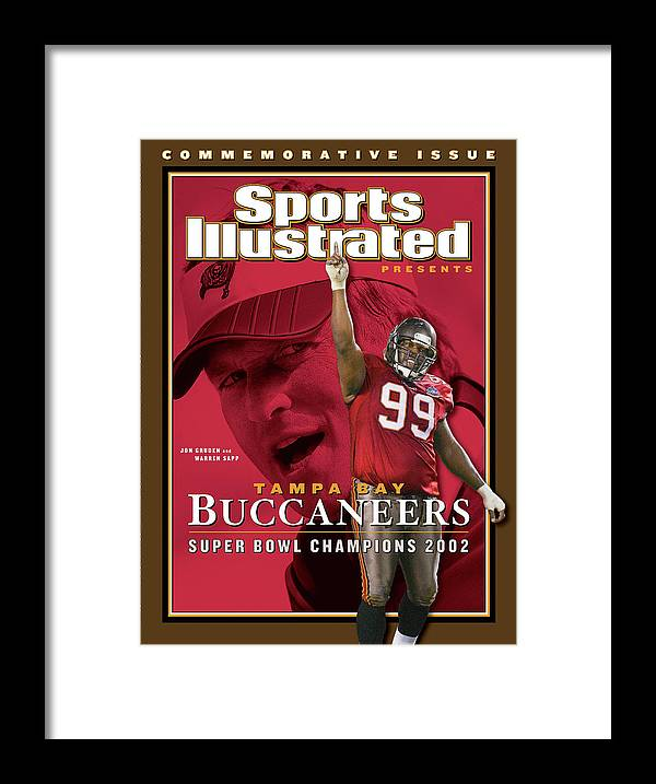 Warren Sapp Framed Print featuring the photograph Tampa Bay Buccaneers, Super Bowl Xxxvii Champions Sports Illustrated Cover by Sports Illustrated