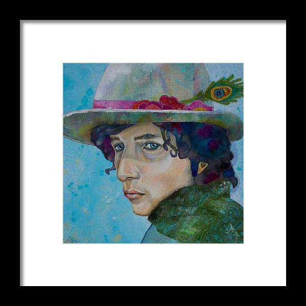 Bob Dylan Framed Print featuring the mixed media Tangled Up by Karen Payton