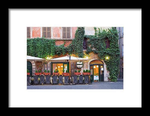 Pub Framed Print featuring the photograph Tavern, Rome, Italy by Benedek