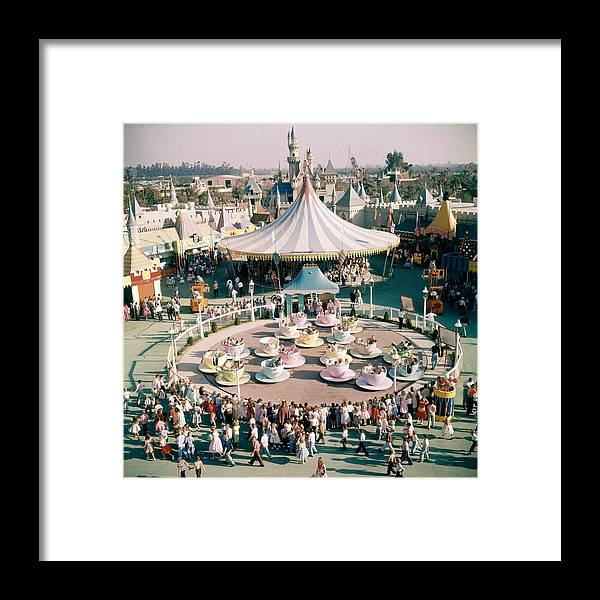 Timeincown Framed Print featuring the photograph Teacups At Disneyland by Loomis Dean