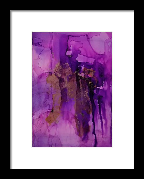 Art Framed Print featuring the painting Tear In My heart by Paulina Roybal