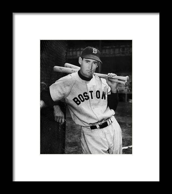 Ted Williams - Baseball Player Framed Print featuring the photograph Ted Williams by Fpg