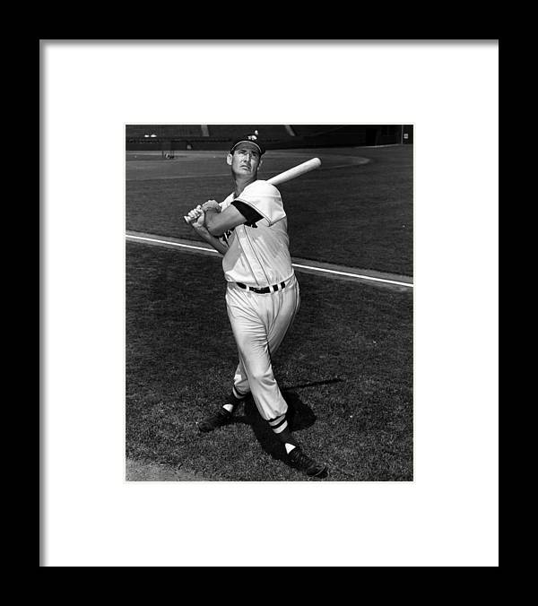 People Framed Print featuring the photograph Ted Williams by Hulton Archive