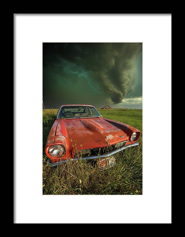 A Windy Violent Storm Framed Print featuring the photograph Tempest by Aaron J Groen