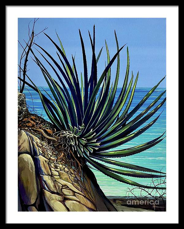 Yucca Framed Print featuring the painting Tenacity by Hunter Jay