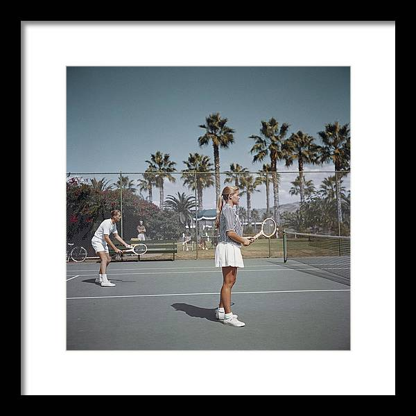 Tennis Framed Print featuring the photograph Tennis In San Diego by Slim Aarons