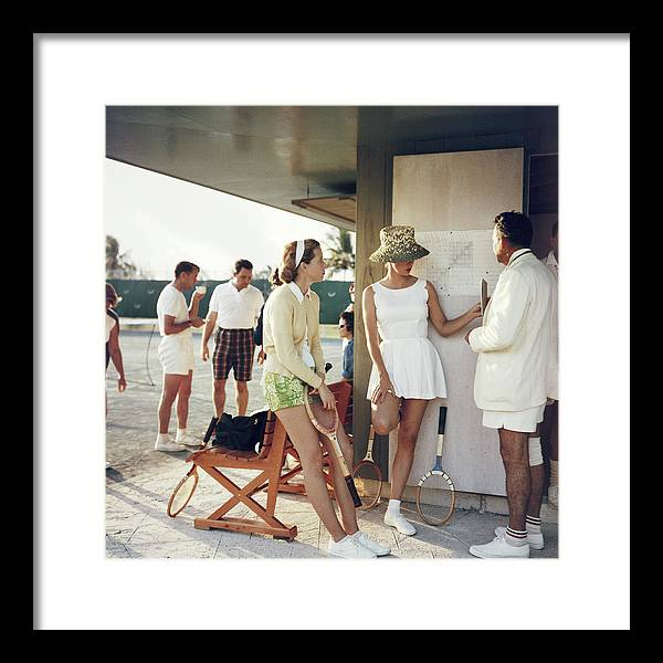 Tennis Framed Print featuring the photograph Tennis In The Bahamas by Slim Aarons