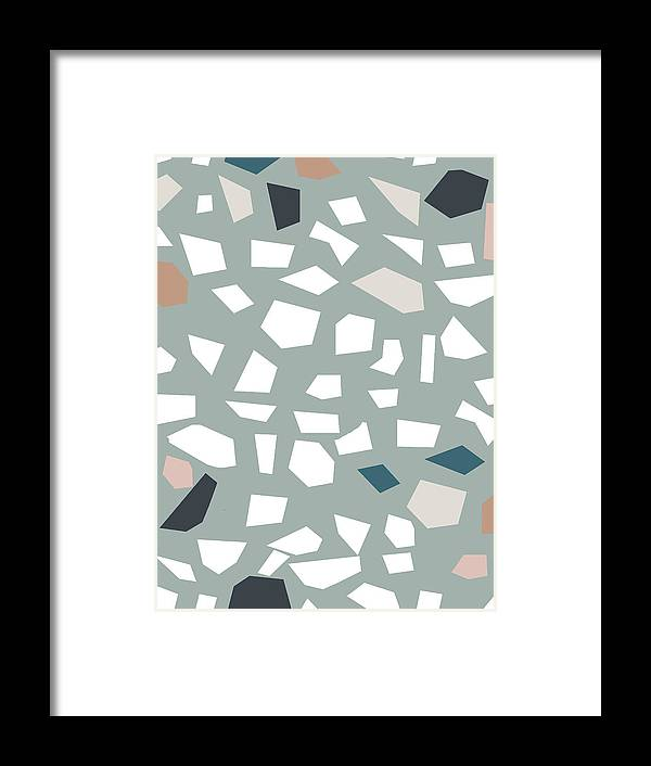Terrazzo Framed Print featuring the digital art Terrazzo 1- Art By Linda Woods by Linda Woods