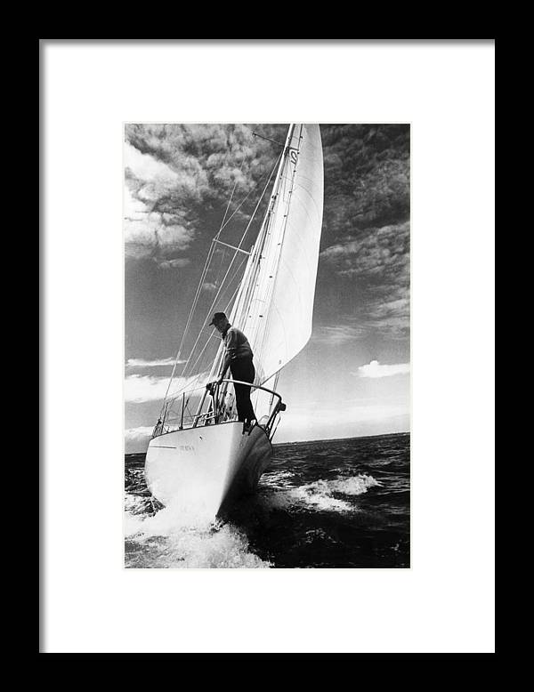 Wind Framed Print featuring the photograph Test Sail by David Ashdown