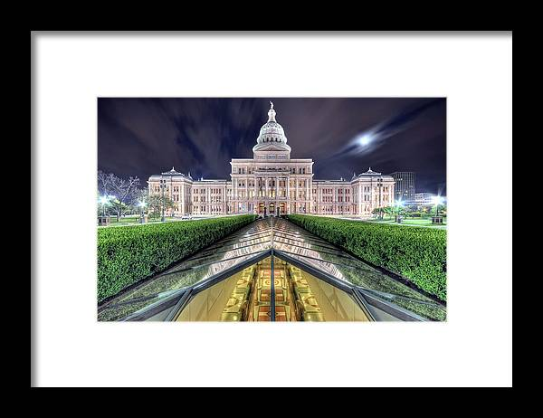 Outdoors Framed Print featuring the photograph Texas Capitol In Early Morning by Evan Gearing Photography