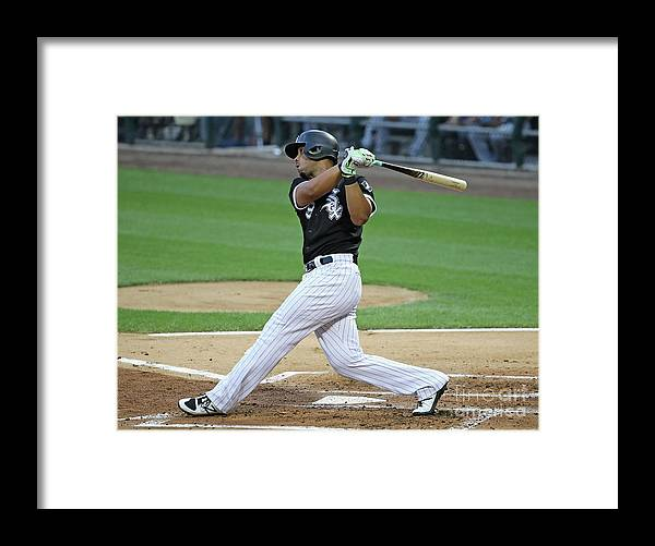People Framed Print featuring the photograph Texas Rangers V Chicago White Sox by Jonathan Daniel