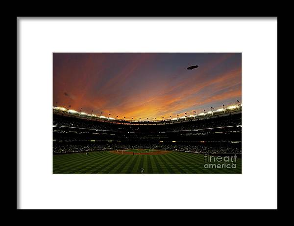 Playoffs Framed Print featuring the photograph Texas Rangers V New York Yankees, Game 5 by Nick Laham