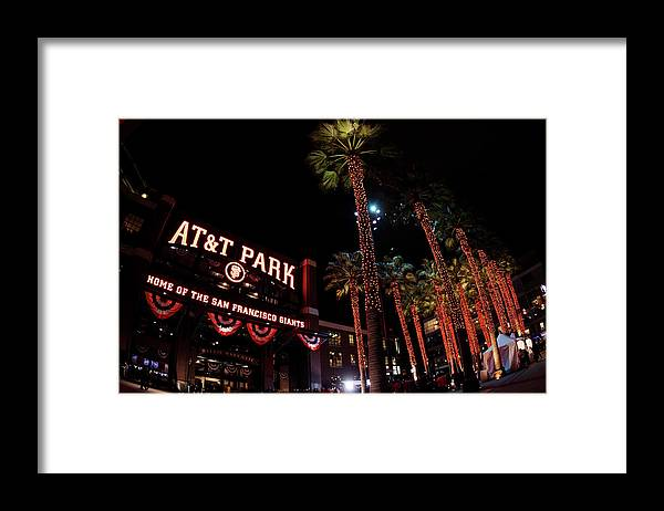 Game Two Framed Print featuring the photograph Texas Rangers V San Francisco Giants by Christian Petersen