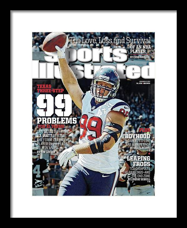 Magazine Cover Framed Print featuring the photograph Texas Three-step 99 Problems for 31 Teams Sports Illustrated Cover by Sports Illustrated