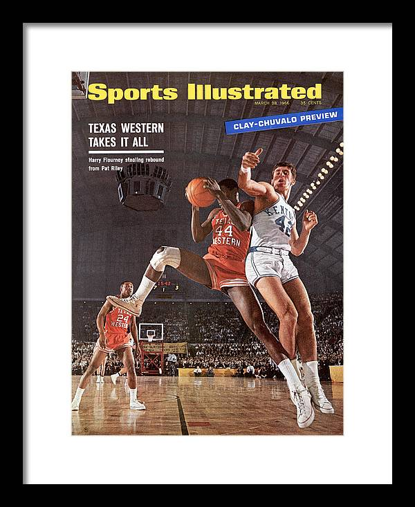 Magazine Cover Framed Print featuring the photograph Texas Western University Takes It All Sports Illustrated Cover by Sports Illustrated