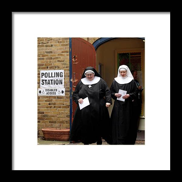 Event Framed Print featuring the photograph The 2010 General Election - The British by Dan Kitwood
