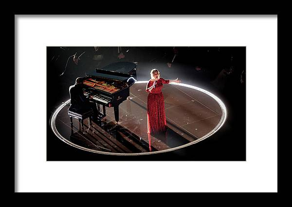 People Framed Print featuring the photograph The 58th Grammy Awards - Roaming Show by Christopher Polk