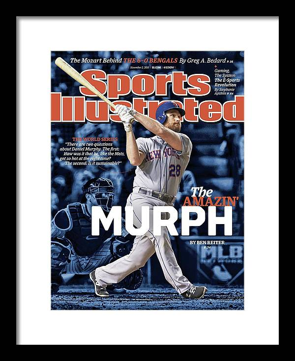 Magazine Cover Framed Print featuring the photograph The Amazin Murph 2015 World Series Preview Issue Sports Illustrated Cover by Sports Illustrated