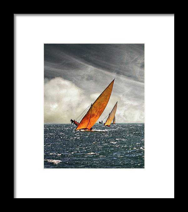 Kenya Framed Print featuring the photograph The Art Of Swahili Dhow Racing by David Schweitzer