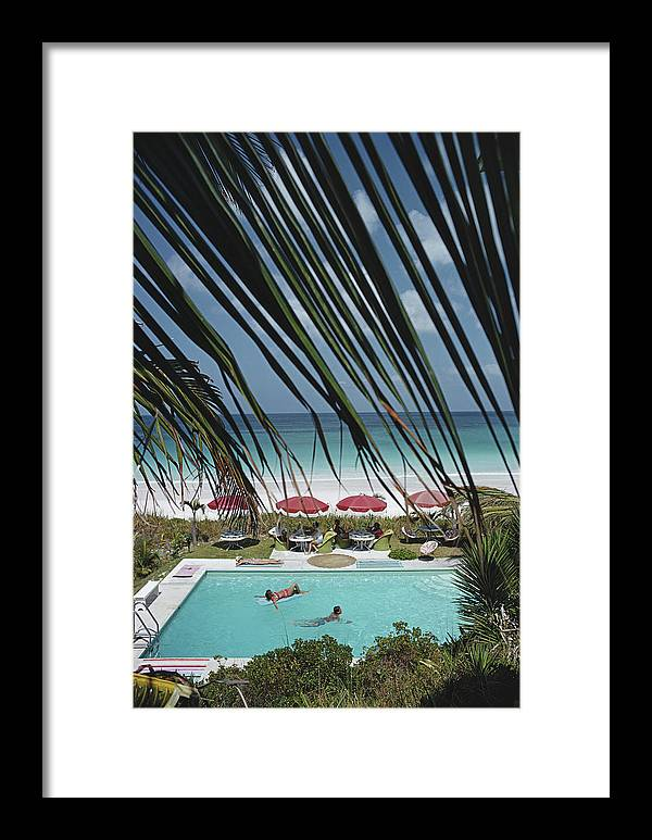 People Framed Print featuring the photograph The Bahamas by Slim Aarons