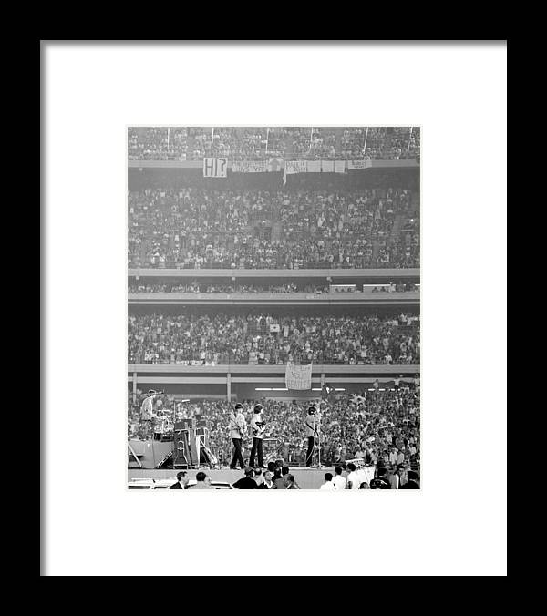 Crowd Framed Print featuring the photograph The Beatles At Shea Stadium, Our Mets by New York Daily News Archive