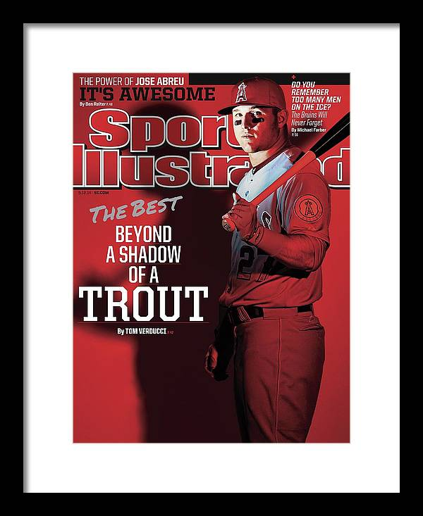 Magazine Cover Framed Print featuring the photograph The Best Beyond A Shadow Of A Trout Sports Illustrated Cover by Sports Illustrated