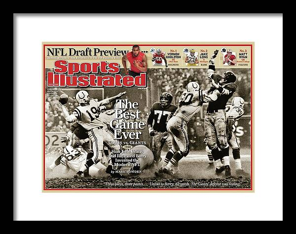 Magazine Cover Framed Print featuring the photograph The Best Game Ever 1958 Colts Vs. Giants Sports Illustrated Cover by Sports Illustrated