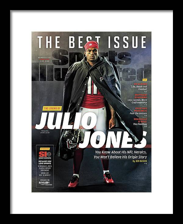Magazine Cover Framed Print featuring the photograph The Best Issue The Legend Of Julio Jones Sports Illustrated Cover by Sports Illustrated