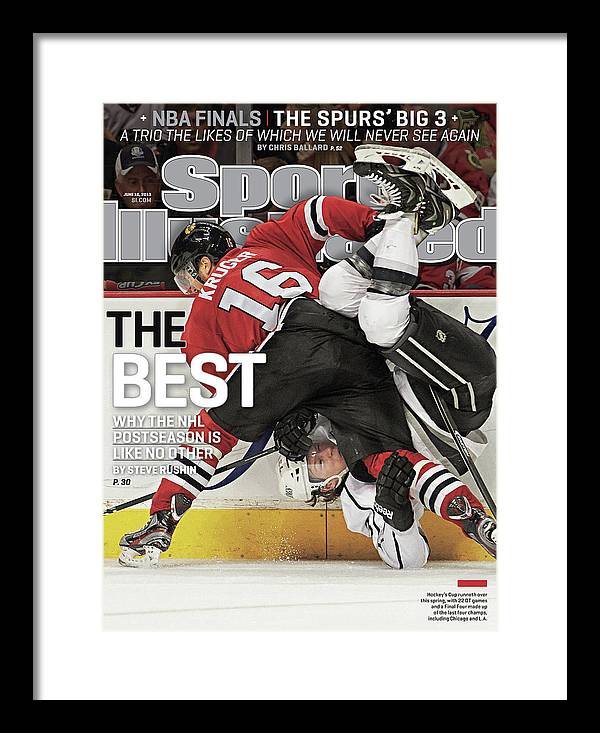 Magazine Cover Framed Print featuring the photograph The Best Why The Nhl Postseason Is Like No Other Sports Illustrated Cover by Sports Illustrated