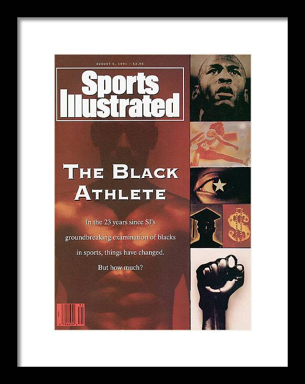 The Olympic Games Framed Print featuring the photograph The Black Athlete In The 23 Years Since Sis Groundbreaking Sports Illustrated Cover by Sports Illustrated