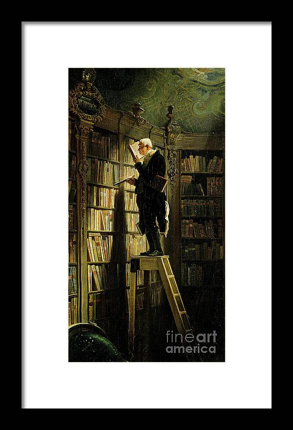 Librarian Framed Print featuring the drawing The Bookworm by Heritage Images