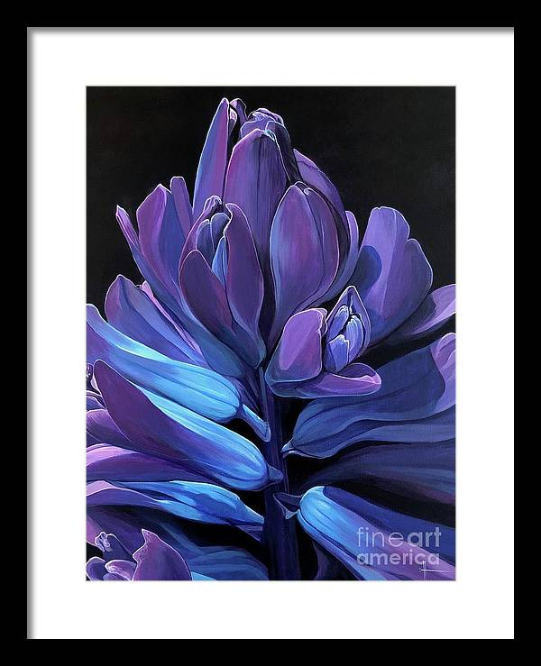Hyacinth Framed Print featuring the painting The Breathtaking Blue by Hunter Jay