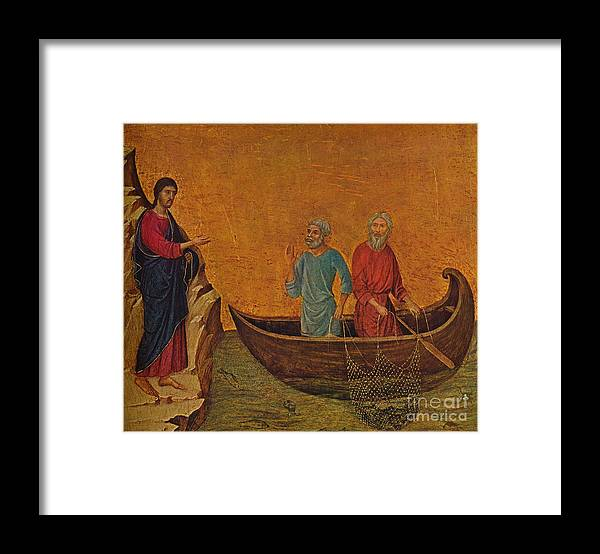 Art Framed Print featuring the drawing The Calling Of The Apostles Peter by Print Collector