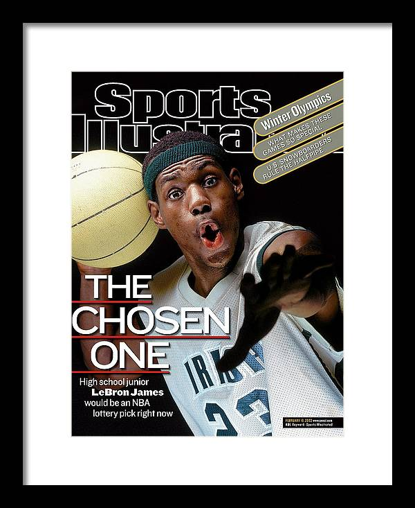 Magazine Cover Framed Print featuring the photograph The Chosen One St. Vincent-st. Mary High LeBron James Sports Illustrated Cover by Sports Illustrated