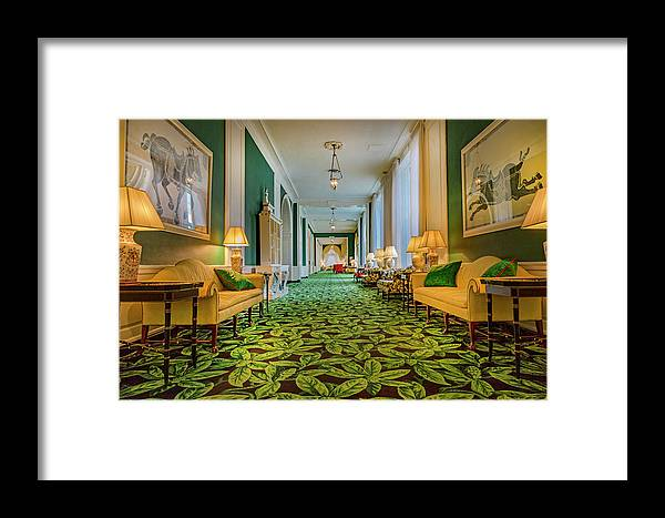 The Framed Print featuring the photograph The Corridor by Betsy Knapp