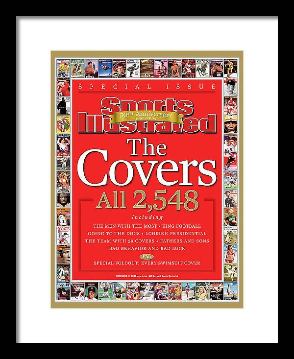 Magazine Cover Framed Print featuring the photograph The Covers, 50th Anniversary 1954-2004 Sports Illustrated Cover by Sports Illustrated