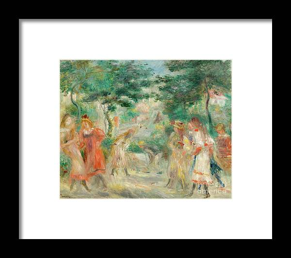 Oil Painting Framed Print featuring the drawing The Croquet Party Girls In The Garden by Heritage Images