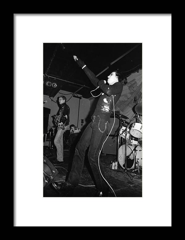 Concert Framed Print featuring the photograph The Damned by Graham Wood