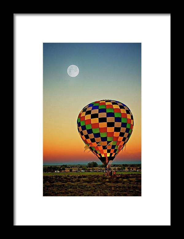 Southwest Framed Print featuring the photograph The Dawn of Light, 2017 Albuquerque International Balloon Festival by Zayne Diamond Photographic