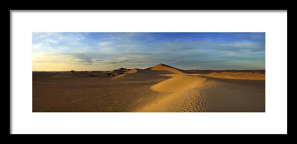 Tranquility Framed Print featuring the photograph The Desert Near Mhamid by Maremagnum