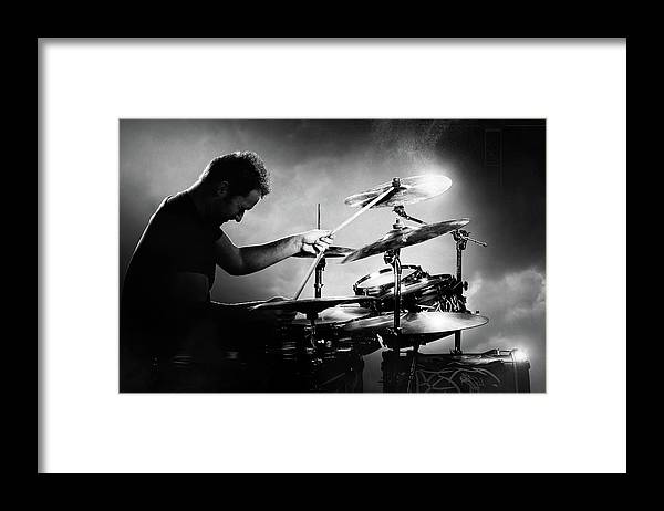Drummer Framed Print featuring the photograph The Drummer by Johan Swanepoel