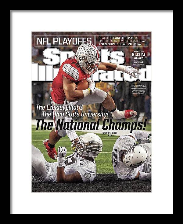 Magazine Cover Framed Print featuring the photograph The Ezekiel Elliott The Ohio State University The National Sports Illustrated Cover by Sports Illustrated