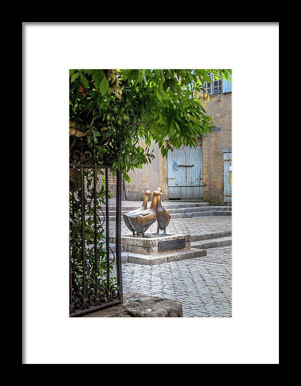 Statue Framed Print featuring the photograph The Famous Geese Of Sarlat by W Chris Fooshee