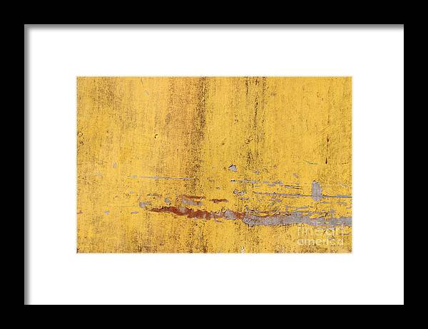 Template Framed Print featuring the digital art The Flaking Yellow Color With Scratched by Tcy26