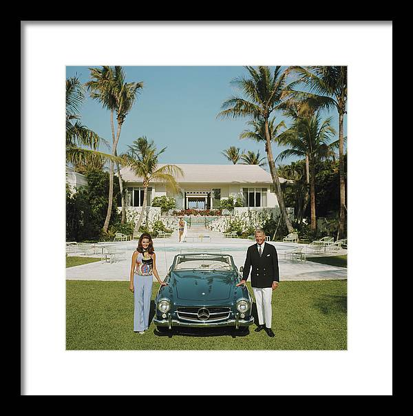 Finance And Economy Framed Print featuring the photograph The Fullers by Slim Aarons