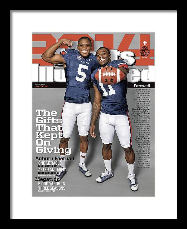 Magazine Cover Framed Print featuring the photograph The Gifts That Kept On Giving Auburn Football Sports Illustrated Cover by Sports Illustrated